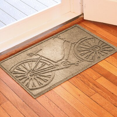 Conway Bicycle Doormat Color: Camel