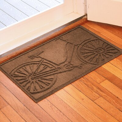 Aqua Shield Bicycle Doormat Color: Dark Brown