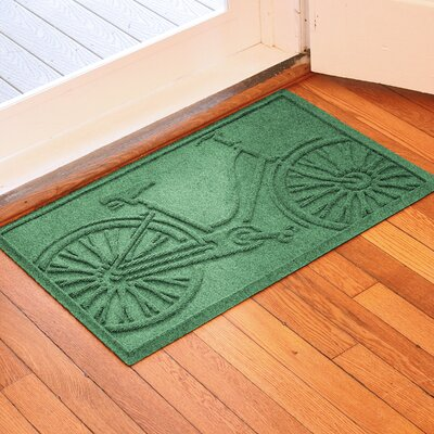 Conway Bicycle Doormat Color: Light Green