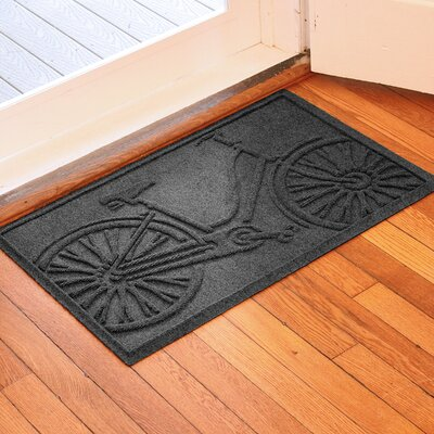 Aqua Shield Bicycle Doormat Color: Charcoal