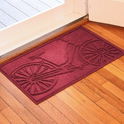Conway Bicycle Doormat Color: Red