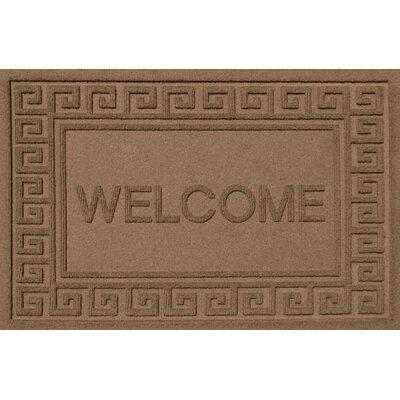 Aqua Shield Greek Key Welcome Doormat Color: Dark Brown