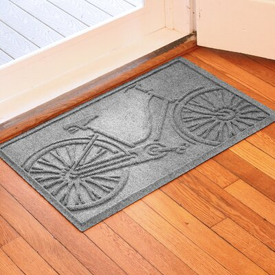 Conway Bicycle Doormat Color: Medium Gray