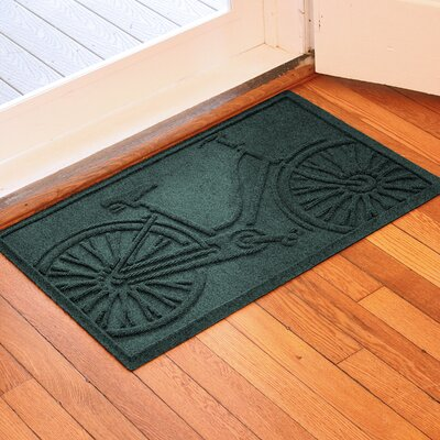 Aqua Shield Bicycle Doormat Color: Evergreen