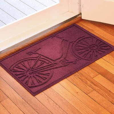 Conway Bicycle Doormat Color: Bordeaux