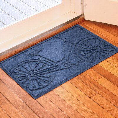 Conway Bicycle Doormat Color: Navy