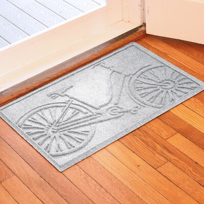 Conway Bicycle Doormat Color: White