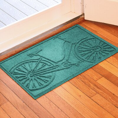 Conway Bicycle Doormat Color: Aquamarine