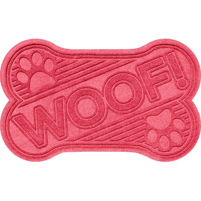 Aqua Shield Woof Doormat Color: Solid Red