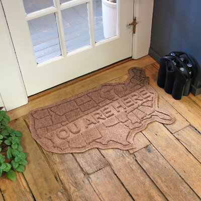 Aqua Shield USA Map Doormat Color: Medium Brown