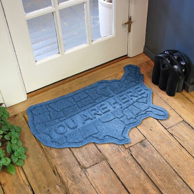 Aqua Shield USA Map Doormat Color: Medium Blue