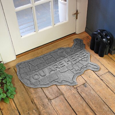 Aqua Shield USA Map Doormat Color: Medium Gray