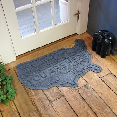 Aqua Shield USA Map Doormat Color: Bluestone