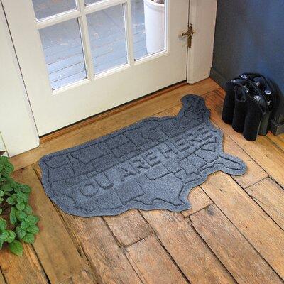 Aqua Shield USA Map Doormat Color: Bluestone