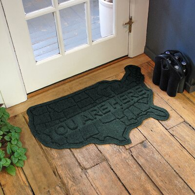 Aqua Shield USA Map Doormat Color: Evergreen