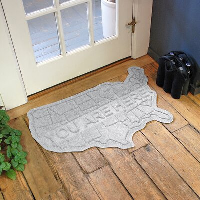 Aqua Shield USA Map Doormat Color: White