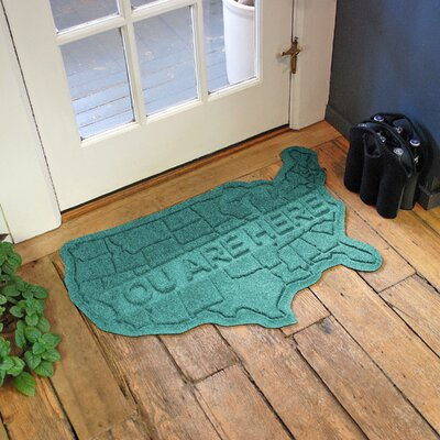Aqua Shield USA Map Doormat Color: Aquamarine