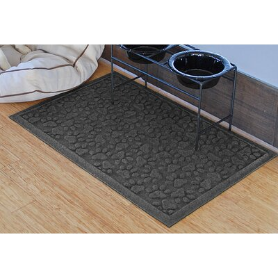 Aqua Shield Scattered Dog Paws Doormat Color: Charcoal