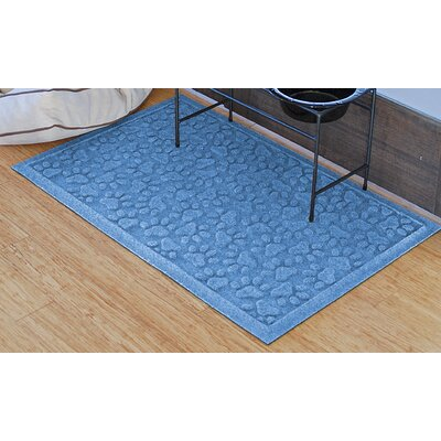 Conway Scattered Dog Paws Doormat Color: Medium Blue