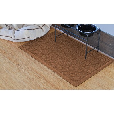 Aqua Shield Scattered Dog Paws Doormat Color: Dark Brown