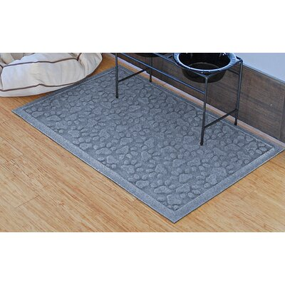Conway Scattered Dog Paws Doormat Color: Bluestone