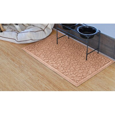 Conway Scattered Dog Paws Doormat Color: Medium Brown