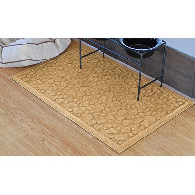 Aqua Shield Scattered Dog Paws Doormat Color: Gold