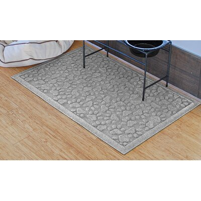 Aqua Shield Scattered Dog Paws Doormat Color: Medium Gray