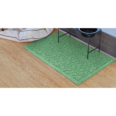 Conway Scattered Dog Paws Doormat Color: Light Green