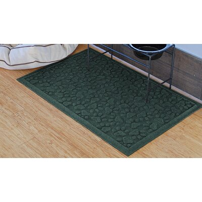 Conway Scattered Dog Paws Doormat Color: Evergreen