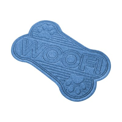 Aqua Shield Woof Doormat Color: Medium Blue