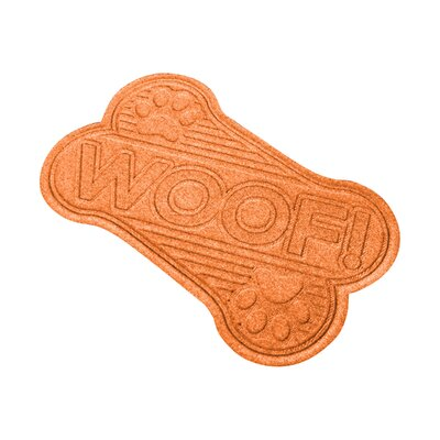 Aqua Shield Woof Doormat Color: Orange