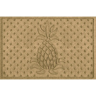 Aqua Shield Diamond Pineapple Doormat Color: Gold