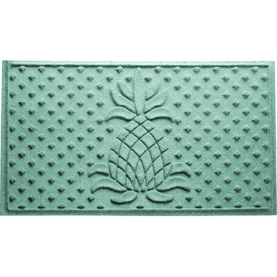 Anitra Diamond Pineapple Doormat Color: Aquamarine