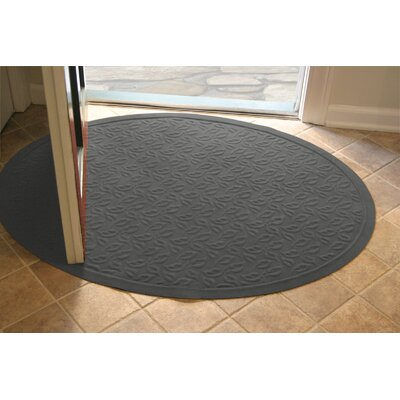 Soft Impressions Dogwood Leaf Doormat Mat Size: Oval 3 x 4, Color: Charcoal