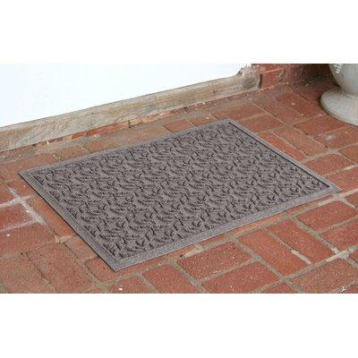Bungalow Flooring Aqua Shield Dogwood Leaf Mat - Size: 2' x 3' Color: Medium Grey