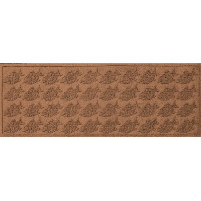 Aqua Shield Tropical Fish Doormat Color: Dark Brown, Mat Size: Rectangle 2 x 3