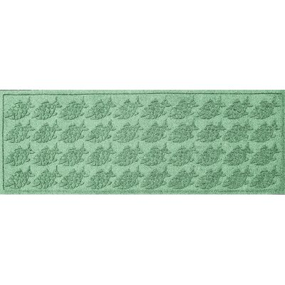 Aqua Shield Tropical Fish Doormat Color: Light Green, Rug Size: Rectangle 2 x 3
