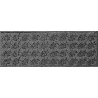 Aqua Shield Tropical Fish Doormat Rug Size: Rectangle 22 x 60, Color: Medium Gray