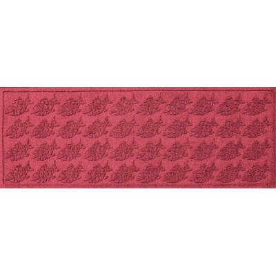 Aqua Shield Tropical Fish Doormat Color: Red, Mat Size: Rectangle 2 x 3