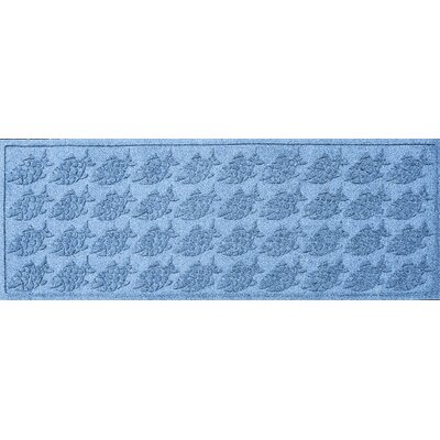 Aqua Shield Tropical Fish Doormat Rug Size: Rectangle 2 x 3, Color: Aquamarine