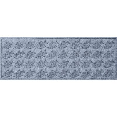 Aqua Shield Tropical Fish Doormat Mat Size: Rectangle 22 x 60, Color: Bluestone