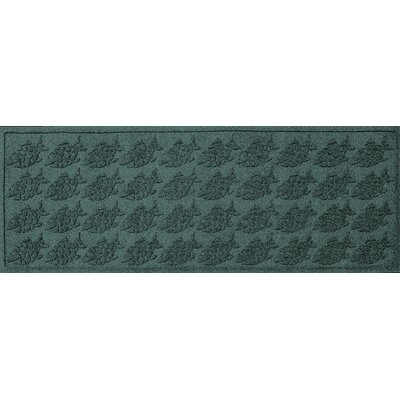 Aqua Shield Tropical Fish Doormat Color: Evergreen, Rug Size: Rectangle 2 x 3