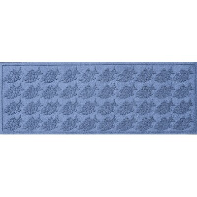 Aqua Shield Tropical Fish Doormat Color: Medium Blue, Mat Size: Rectangle 2 x 3