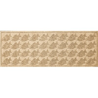 Aqua Shield Tropical Fish Doormat Mat Size: Rectangle 22 x 60, Color: Camel