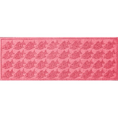 Aqua Shield Tropical Fish Doormat Rug Size: 22 x 60, Color: Solid Red