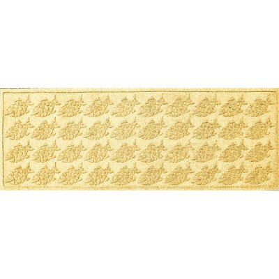 Aqua Shield Tropical Fish Doormat Rug Size: 2 x 3, Color: Yellow