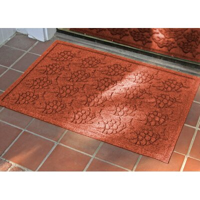 Aqua Shield Tropical Fish Doormat Rug Size: Rectangle 2 x 3, Color: Orange