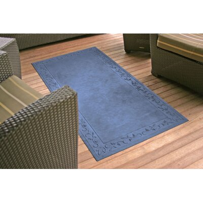 Deidre Vine Doormat Rug Size: Rectangle 34 x 52, Color: Sky