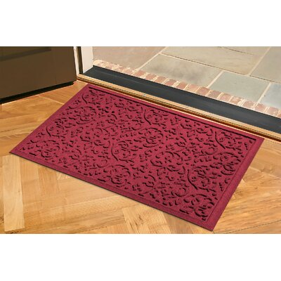 Conway Doormat Color: Red/Black, Rug Size: Rectangle 2 x 3